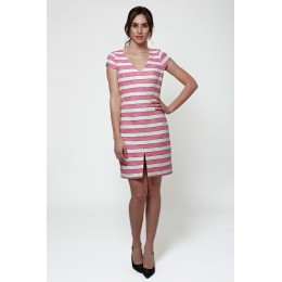 Jacquard striped dress
